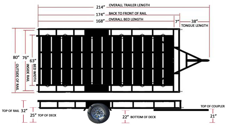 Echo Trailers 14' Elite Trailer Schematic