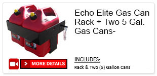 Echo Elite Gas Can Rack