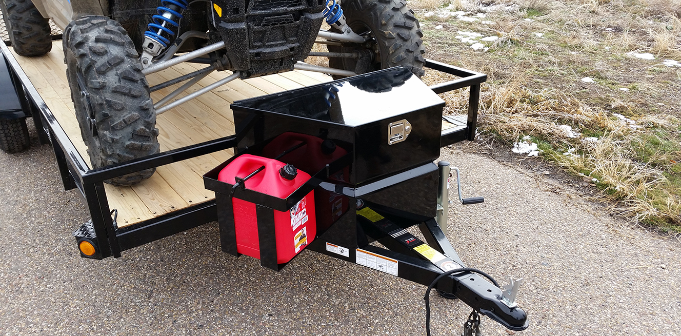 XL Tool Box & Gas Can Rack